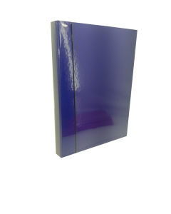 Fascikla sa gumom 3D plava