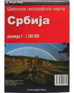 Karta Srbije - školska
