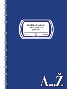 Registar sveska ABECEDA A5/90l - spiralni povez