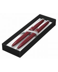 Set Scrikss Prestige hemijska i tehnička olovka crvena u kutiji