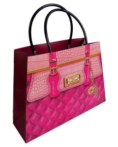 Kesa ukrasna pink lux 23x32x10cm