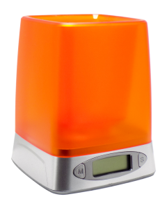 Čaša za olovke sa digitalnim satom