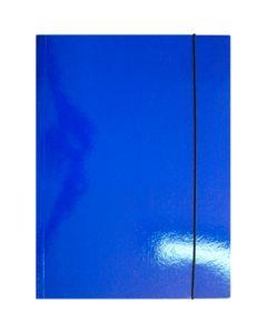 Fascikla color A4 - LUX 340gr. sa gumom - plava