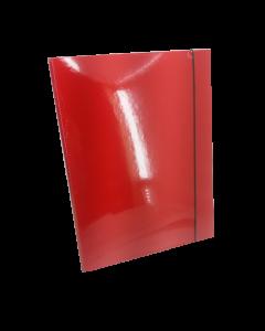 Fascikla sa gumom 2D crvena
