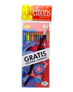 Boje drvene Memoris + gratis olovka +gratis gumica