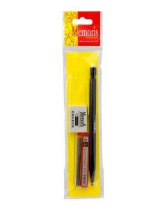 Set tehnička olovka+mine 0.5 u boji+gumica