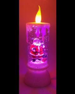 Novogodišnji ukras lampa Sveća gliter OP783