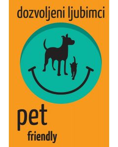 Nalepnica Pet Friendly A7