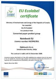 EU Ecolabel sertifikat